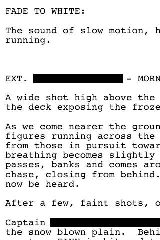 Redacted Script